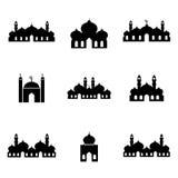 Σύνολο 2 εικονιδίων μουσουλμανικών τεμενών Στοκ φωτογραφία με δικαίωμα ελεύθερης χρήσης