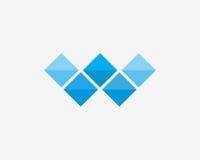 Σύνολο εικονιδίων μωσαϊκών αλφάβητου λογότυπων γραμμάτων W Στοκ Εικόνα