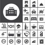 Σύνολο εικονιδίων ξενοδοχείων Στοκ Εικόνες