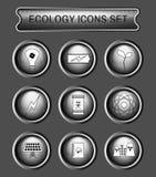 Σύνολο εικονιδίων λογότυπων οικολογίας Στοκ Εικόνες