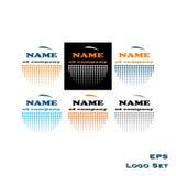 Σύνολο εικονιδίων λογότυπων Στοκ Φωτογραφίες