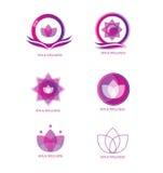 Σύνολο εικονιδίων λογότυπων SPA Στοκ Φωτογραφίες
