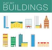 Σύνολο εικονιδίων οικοδόμησης αφηρημένη αρχιτεκτονική Στοκ εικόνα με δικαίωμα ελεύθερης χρήσης