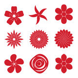 Σύνολο εικονιδίων λουλουδιού Στοκ φωτογραφία με δικαίωμα ελεύθερης χρήσης