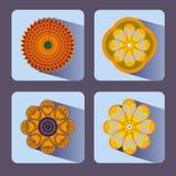 Σύνολο εικονιδίων λουλουδιών Στοκ εικόνες με δικαίωμα ελεύθερης χρήσης