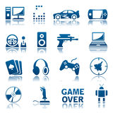 Σύνολο εικονιδίων παιχνιδιών στον υπολογιστή Στοκ Εικόνες