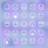Σύνολο εικονιδίων προσώπων smiley για την κινητή εφαρμογή Στοκ εικόνες με δικαίωμα ελεύθερης χρήσης