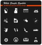 σύνολο εικονιδίων πλυντηρίων αυτοκινήτων ελεύθερη απεικόνιση δικαιώματος