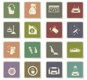 σύνολο εικονιδίων πλυντηρίων αυτοκινήτων απεικόνιση αποθεμάτων