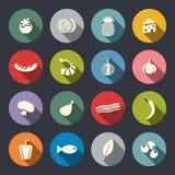 Σύνολο εικονιδίων σε τρόφιμα θέματος Στοκ φωτογραφίες με δικαίωμα ελεύθερης χρήσης