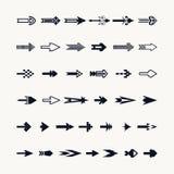 Σύνολο εικονιδίων σημαδιών βελών Στοκ Εικόνες