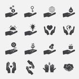 Σύνολο εικονιδίων σημαδιών χεριών Στοκ Εικόνα