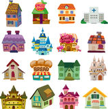 Σύνολο εικονιδίων σπιτιών Στοκ εικόνες με δικαίωμα ελεύθερης χρήσης