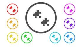 Σύνολο εικονιδίων στο χρώμα, απεικόνιση, γρίφος Στοκ Εικόνες