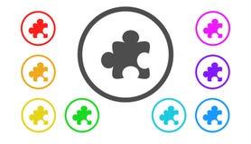 Σύνολο εικονιδίων στο χρώμα, απεικόνιση, γρίφος Στοκ φωτογραφία με δικαίωμα ελεύθερης χρήσης
