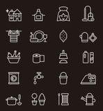 Σύνολο εικονιδίων σχετικά με την οικοκυρική Στοκ φωτογραφίες με δικαίωμα ελεύθερης χρήσης