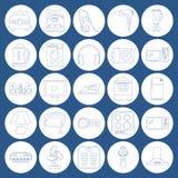 Σύνολο εικονιδίων τέχνης γραμμών εγχώριων συσκευών Στοκ Φωτογραφίες