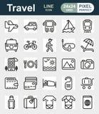 Σύνολο εικονιδίων ταξιδιού και μεταφορών Στοκ φωτογραφίες με δικαίωμα ελεύθερης χρήσης