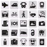 Σύνολο εικονιδίων ταξιδιού και μεταφορών Στοκ Εικόνες