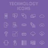 Σύνολο εικονιδίων τεχνολογίας Στοκ εικόνα με δικαίωμα ελεύθερης χρήσης