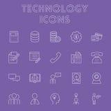 Σύνολο εικονιδίων τεχνολογίας Στοκ Εικόνες