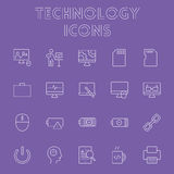 Σύνολο εικονιδίων τεχνολογίας Στοκ φωτογραφίες με δικαίωμα ελεύθερης χρήσης