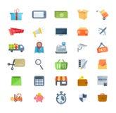 Σύνολο εικονιδίων του μάρκετινγκ, αγορές, ηλεκτρονικό εμπόριο, τεχνική υποστήριξη, παράδοση ελεύθερη απεικόνιση δικαιώματος