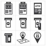 Σύνολο εικονιδίων του ATM Στοκ εικόνες με δικαίωμα ελεύθερης χρήσης