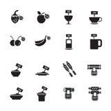 Σύνολο εικονιδίων τροφίμων πώλησης Στοκ φωτογραφία με δικαίωμα ελεύθερης χρήσης