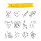 Σύνολο εικονιδίων των ισπανικών Στοκ φωτογραφίες με δικαίωμα ελεύθερης χρήσης