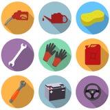 Σύνολο εικονιδίων υπηρεσιών αυτοκινήτων Στοκ Εικόνα