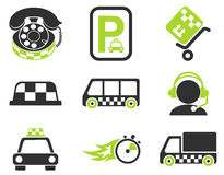 Σύνολο εικονιδίων υπηρεσιών ταξί Στοκ Εικόνες