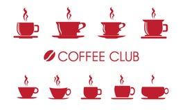 Σύνολο εικονιδίων φλυτζανιών καφέ ή τσαγιού Στοκ Εικόνες