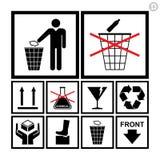 Σύνολο εικονιδίων χειρισμού & συσκευασίας Στοκ Εικόνα
