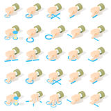 Σύνολο 25 εικονιδίων χειρονομιών οθόνης multitouch Στοκ φωτογραφία με δικαίωμα ελεύθερης χρήσης