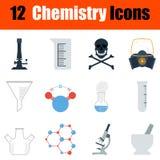 Σύνολο εικονιδίων χημείας Στοκ εικόνα με δικαίωμα ελεύθερης χρήσης