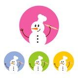 Σύνολο εικονιδίων χιονανθρώπων Στοκ Φωτογραφίες