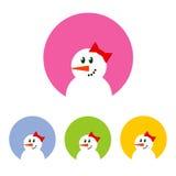 Σύνολο εικονιδίων χιονανθρώπων Στοκ εικόνα με δικαίωμα ελεύθερης χρήσης