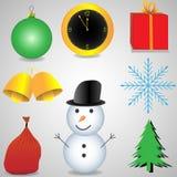 Σύνολο εικονιδίων Χριστουγέννων Διανυσματική απεικόνιση