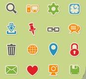 Σύνολο εικονιδίων Blog Στοκ εικόνες με δικαίωμα ελεύθερης χρήσης