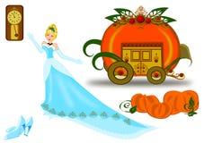 Σύνολο εικονιδίων Cinderella ελεύθερη απεικόνιση δικαιώματος