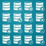 Σύνολο εικονιδίων DB απεικόνιση αποθεμάτων