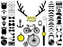 Σύνολο εικονιδίων hipster Στοκ εικόνες με δικαίωμα ελεύθερης χρήσης