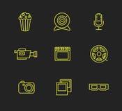 Σύνολο εικονιδίων MEDIA ή πολυμέσων Στοκ Εικόνες