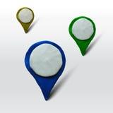Σύνολο δεικτών για τους χάρτες ή τις θέσεις απεικόνιση αποθεμάτων