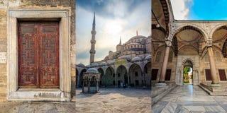 Σύνολο εικόνων από το μπλε μουσουλμανικό τέμενος στη Ιστανμπούλ Στοκ Εικόνες