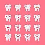 Σύνολο εικόνων των δοντιών Στοκ φωτογραφία με δικαίωμα ελεύθερης χρήσης