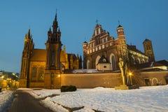 Σύνολο εκκλησιών Anne και Bernadineâs του ST σε Vilnius Στοκ Φωτογραφία