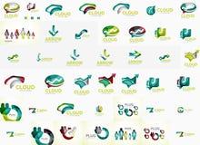 Σύνολο λεκτικών φυσαλίδων και λογότυπων βελών Στοκ Εικόνες