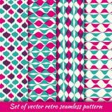 Σύνολο εκλεκτής ποιότητας άνευ ραφής hipsters σχεδίων eps10 να γεμίσει προτύπων λουλουδιών πορτοκαλιά rac ric ράβοντας ριγωτή δια διανυσματική απεικόνιση